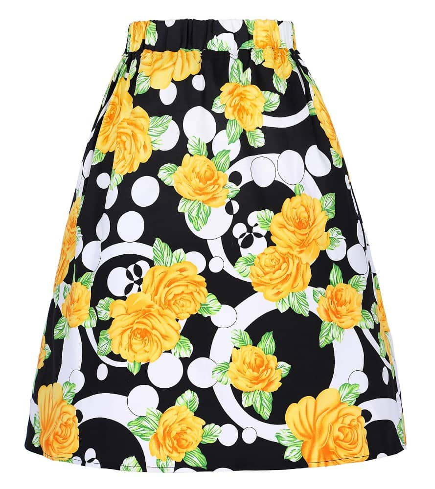 Yellow Rose Retro Skirt Vintage Clothing Online 1950s Glam