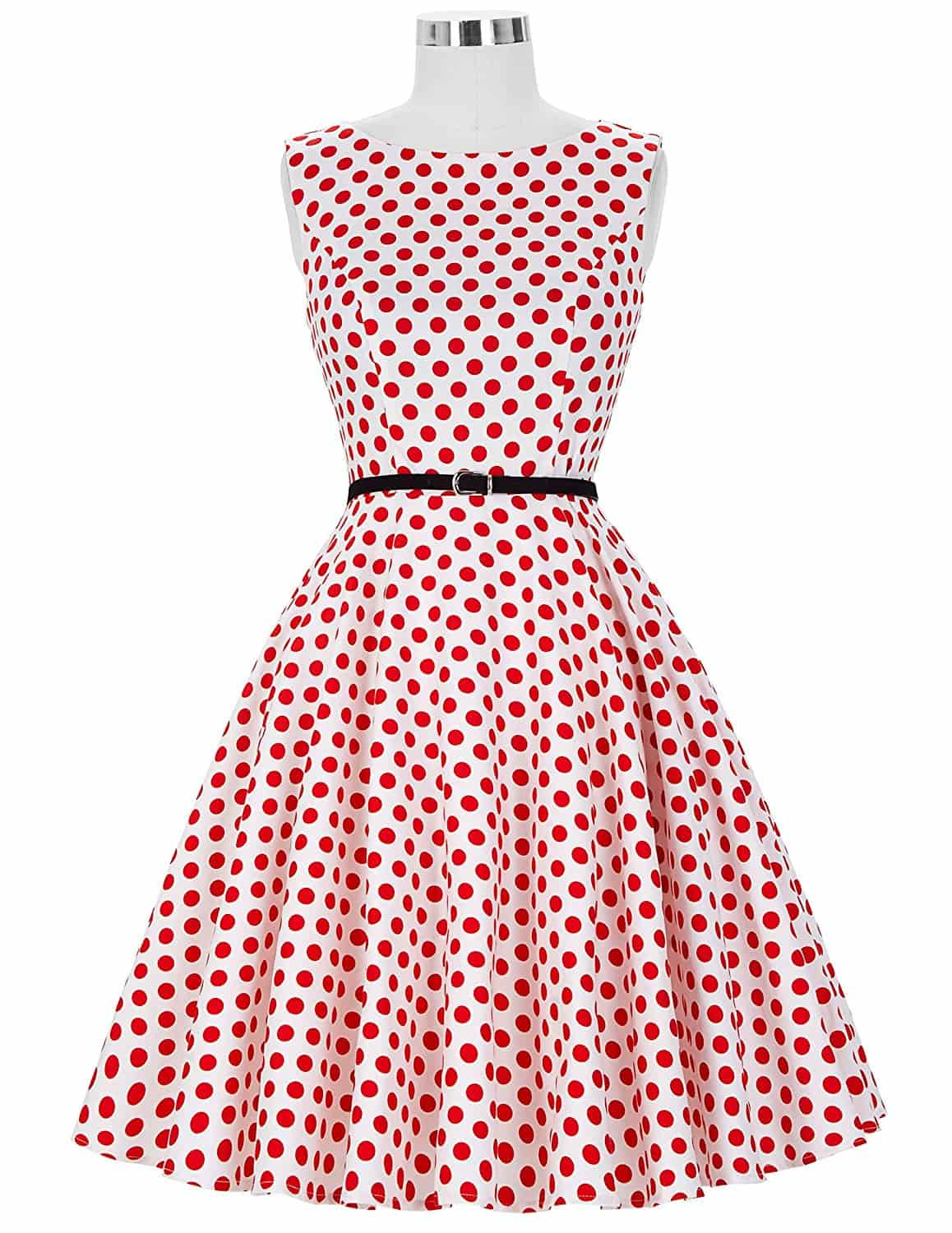The Classic Red and White Polka Dot Dress | 1950sGlam
