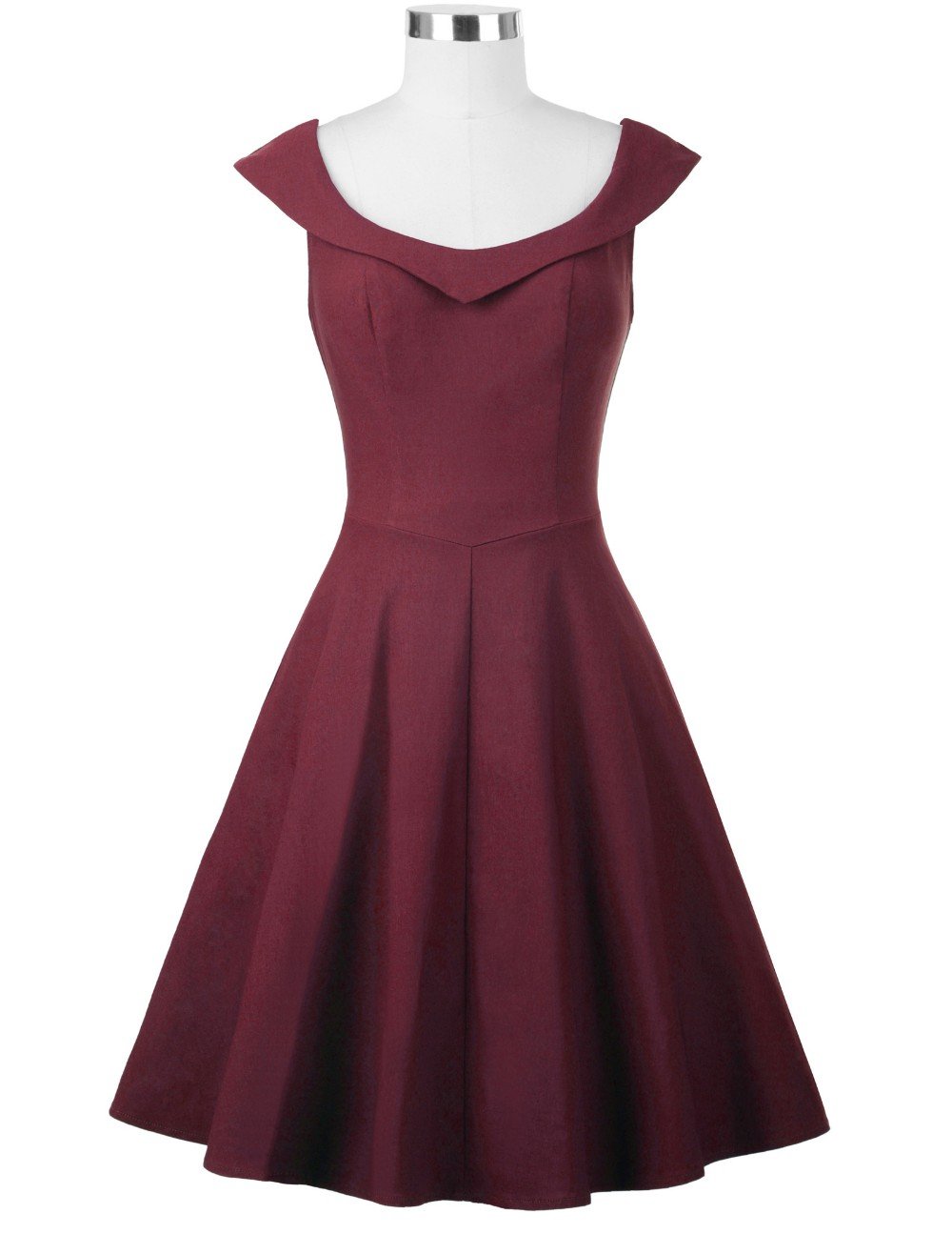 Dolly Burgundy Vintage Dress 1950sglam