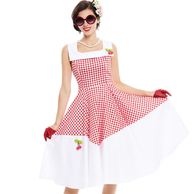 daytripper-gingham-vintage-dress