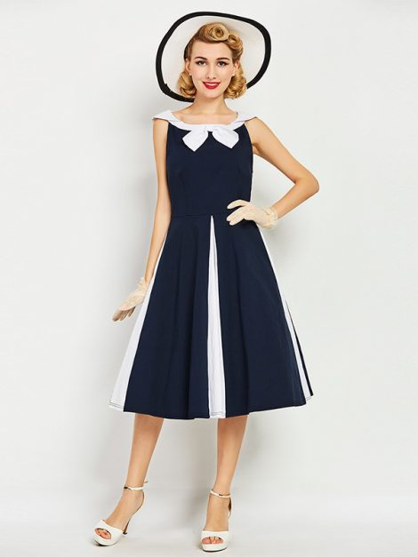 Marnie sailor collar navy vintage dress 1
