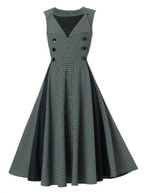 run-the-show-gray-vintage-dress
