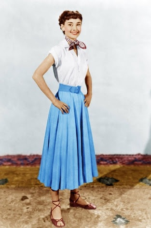 Audrey's costume test for Roman Holiday