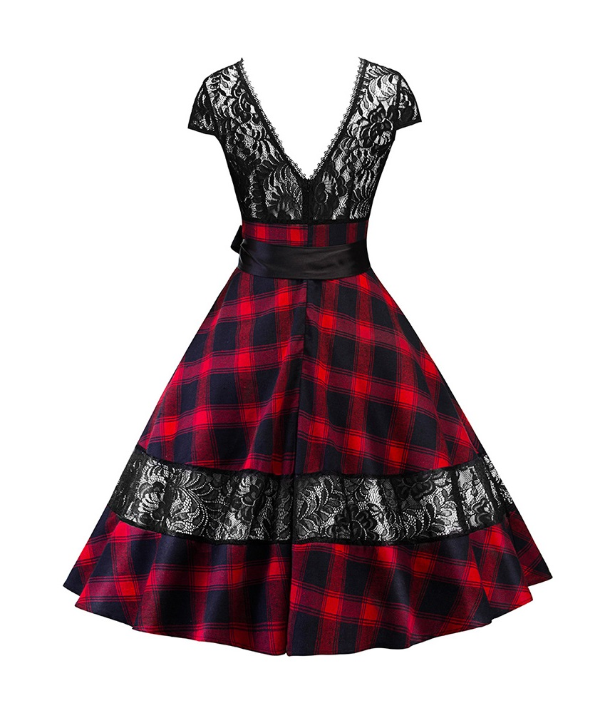 highland-lady-red-tartan-and-lace-50s-dress-back