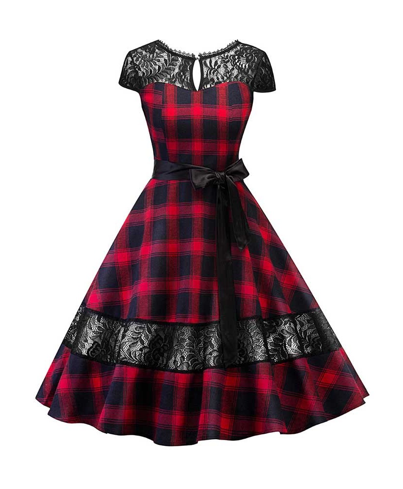 highland-lady-red-tartan-and-lace-50s-dress