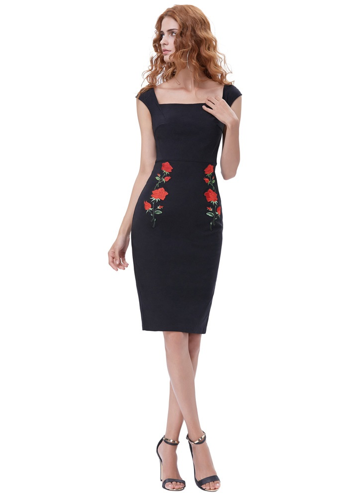 true-love-black-retro-pencil-dress