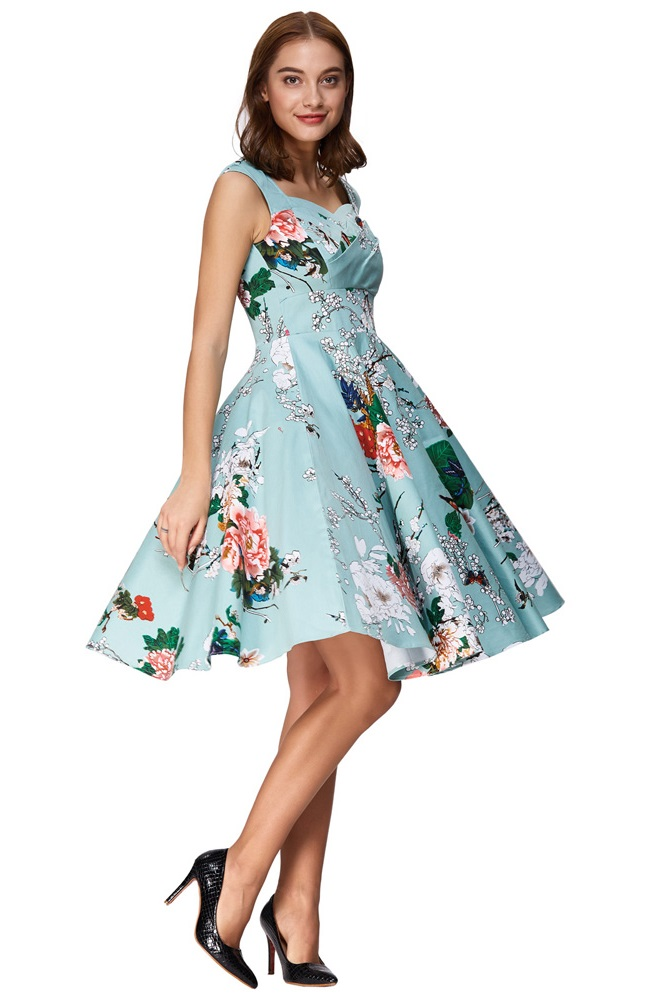 Arabella Sweetheart Floral 50s Dress Vintage Clothing