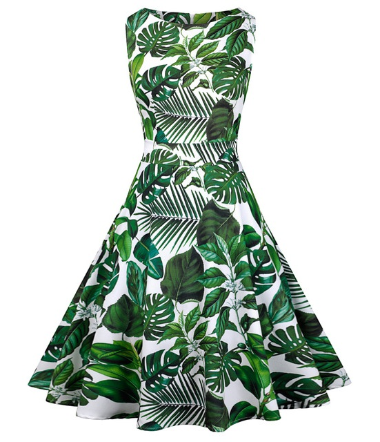 leafy-green-50s-style-dress