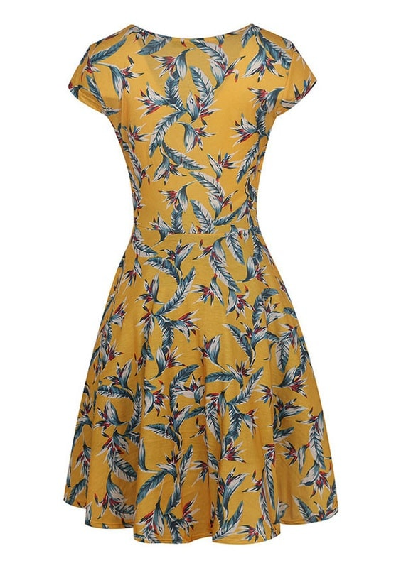 light-as-a-feather-yellow-retro-dress