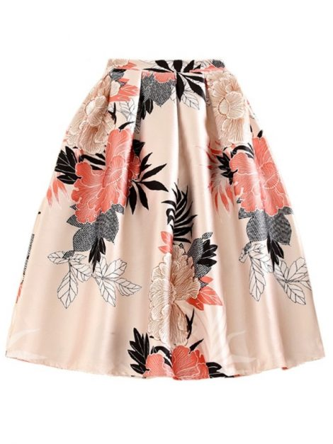 Marnie Apricot Floral Retro Skirt