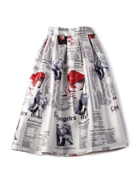 Newspaper print 50s swing skirt