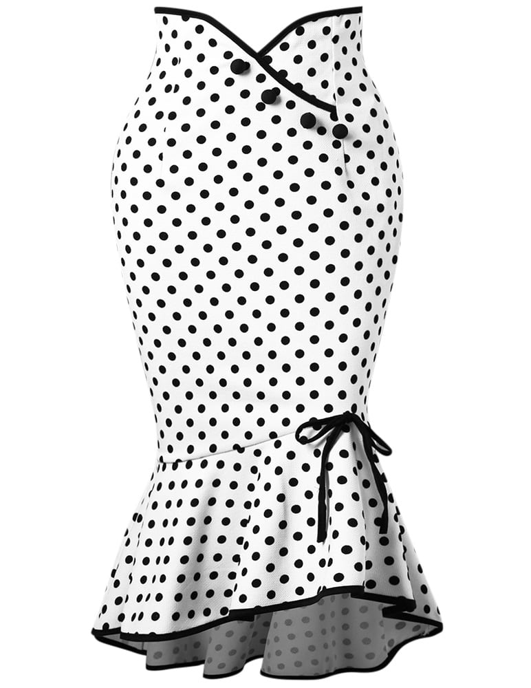 pamela-white-polka-dot-wiggle-skirt