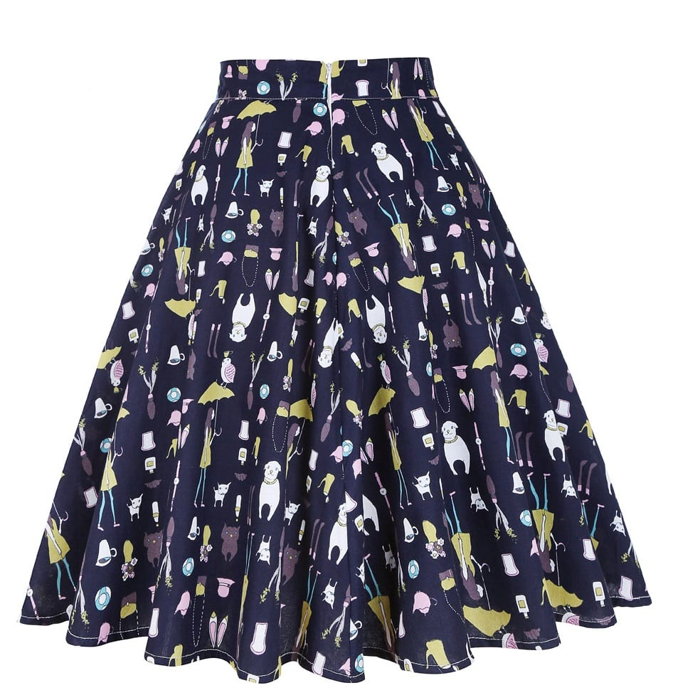 raining-cats-and-dogs-50s-swing-skirt