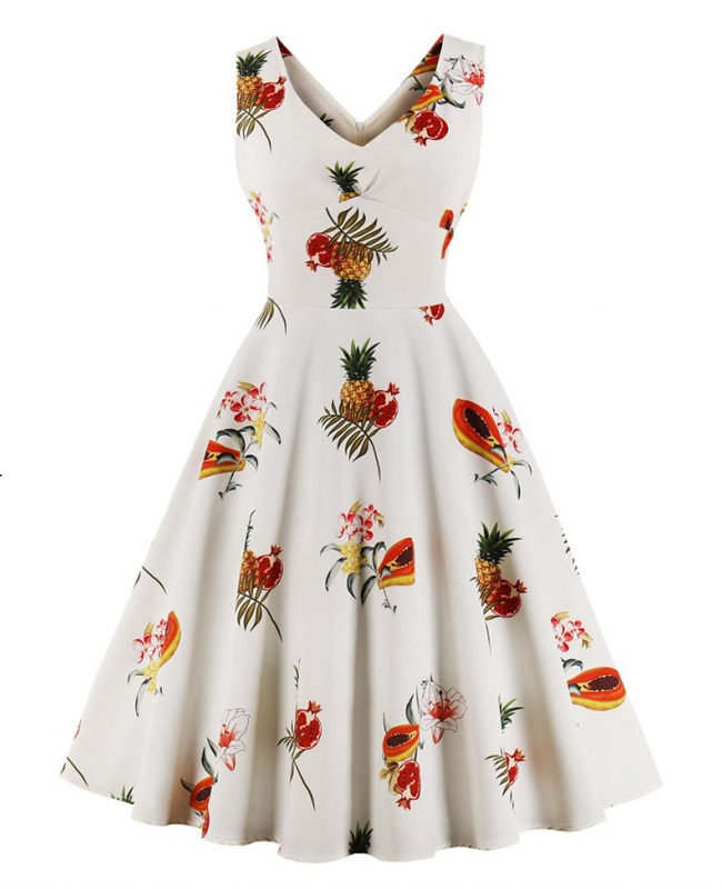 tropical-fruit-retro-50s-dress