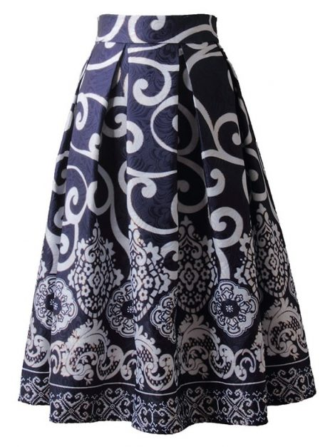 beauty-navy-blue-vintage-style-skirt