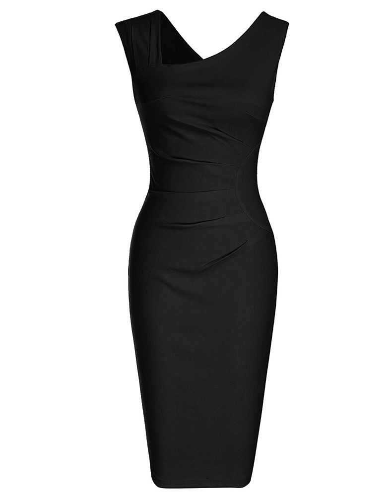 Black retro pencil dress