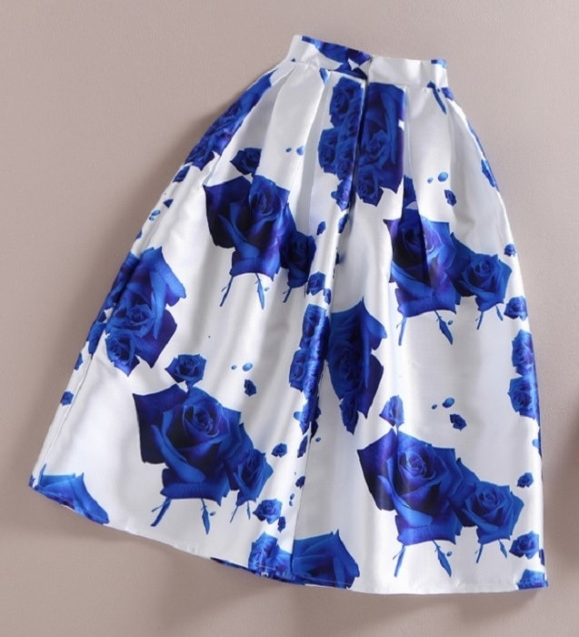 blue-rose-retro-swing-skirt
