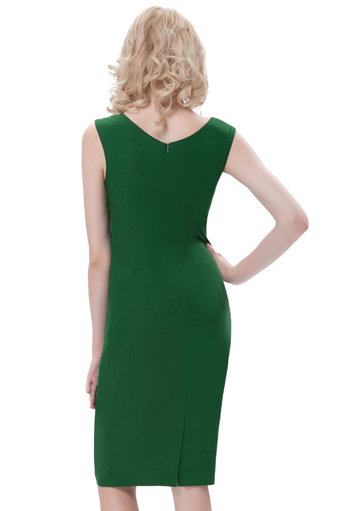 green-retro-style-pencil-dress