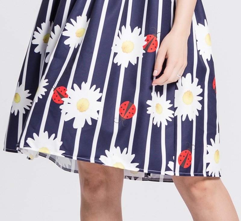 ladybird-striped-navy-blue-retro-dress