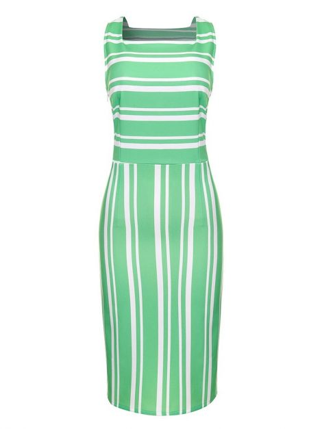 Pippa Spearmint Green 50s Style Pencil Dress