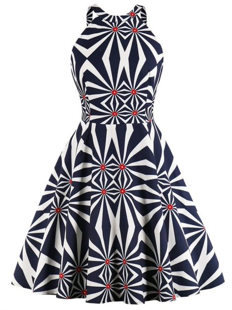 the-hypnotiser-halter-graphic-print-retro-dress