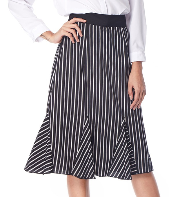 the-boss-black-and-white-striped-50s-skirt
