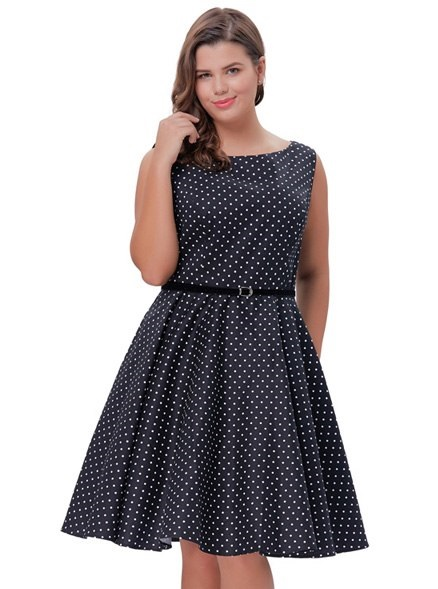 plus-size-juliet-black-and-white-polka-dot-dress