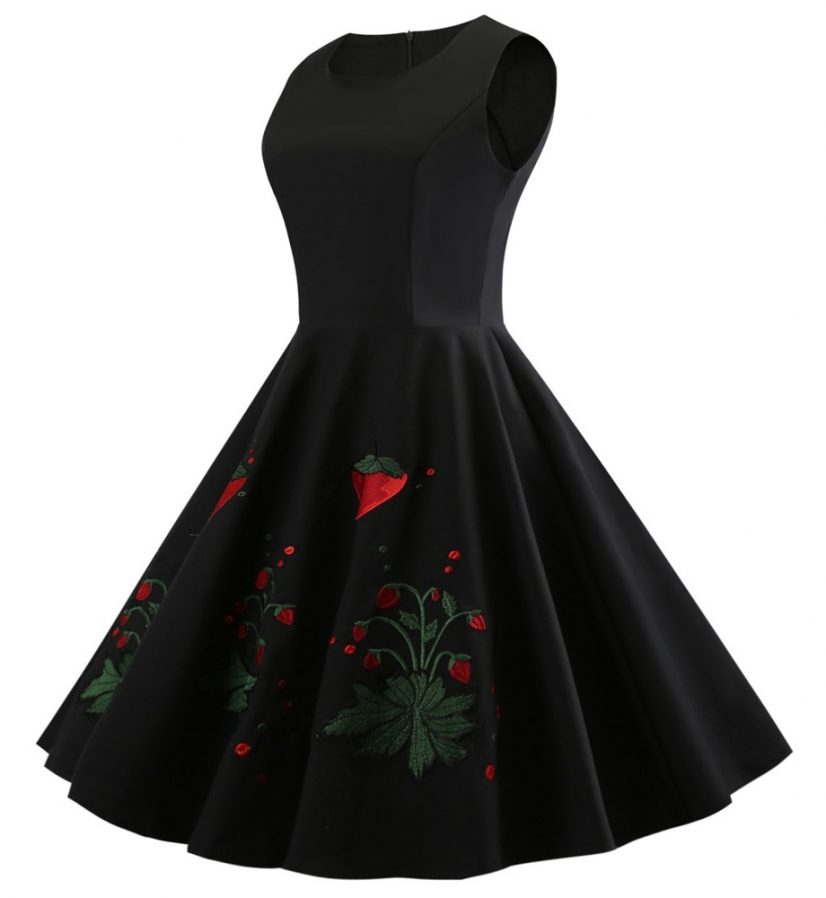 very-strawberry-little-black-vintage-dress
