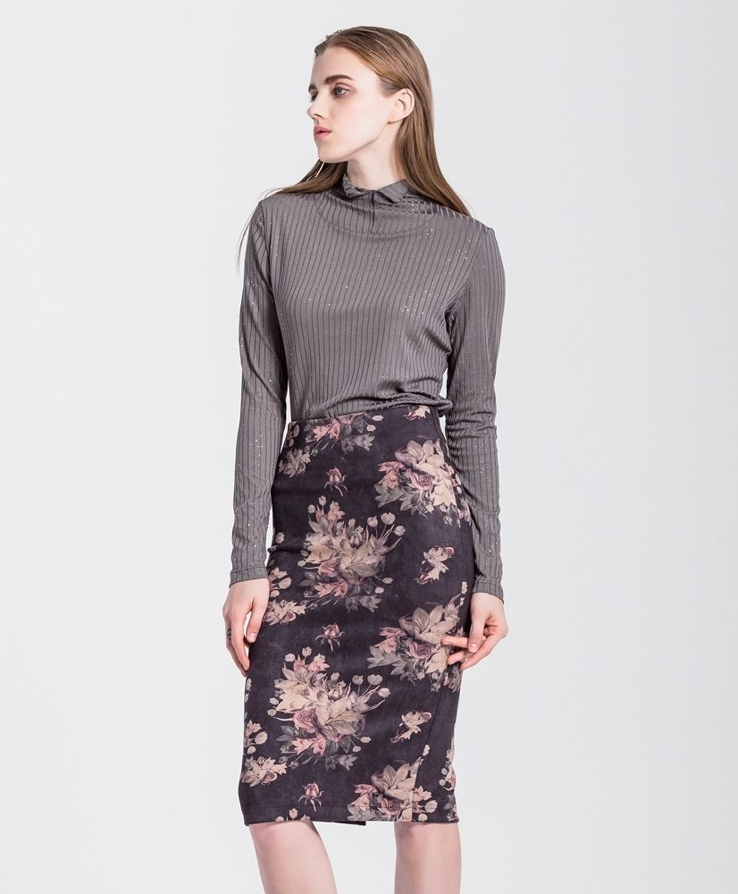 Emily high waisted vintage floral pencil skirt