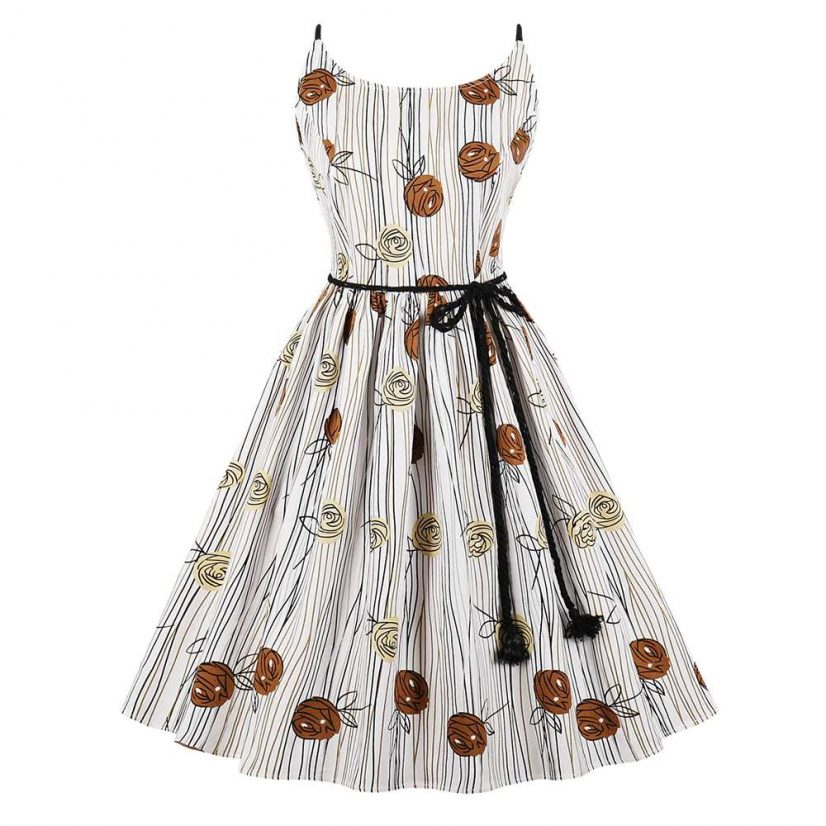 Spaghetti Strap Dress Fifties