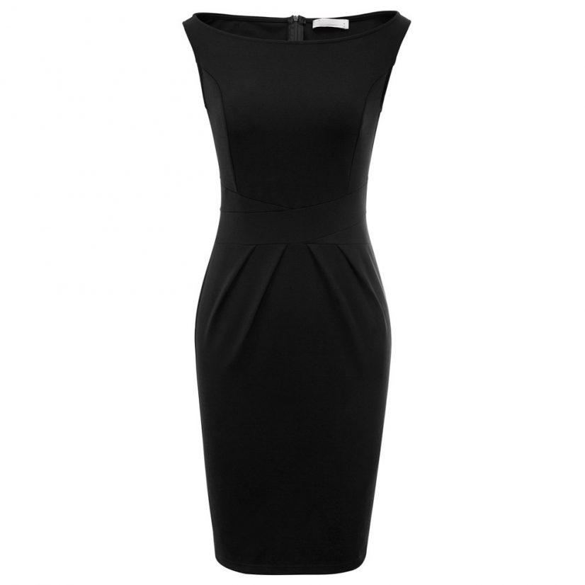 Iris black vintage pencil dress