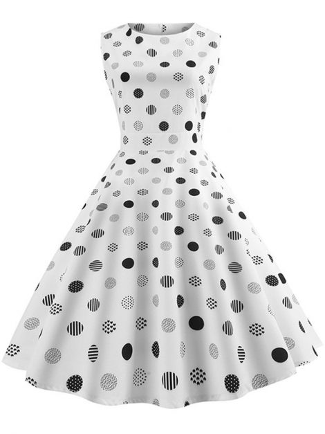 Miss Dot retro style polka dot dress