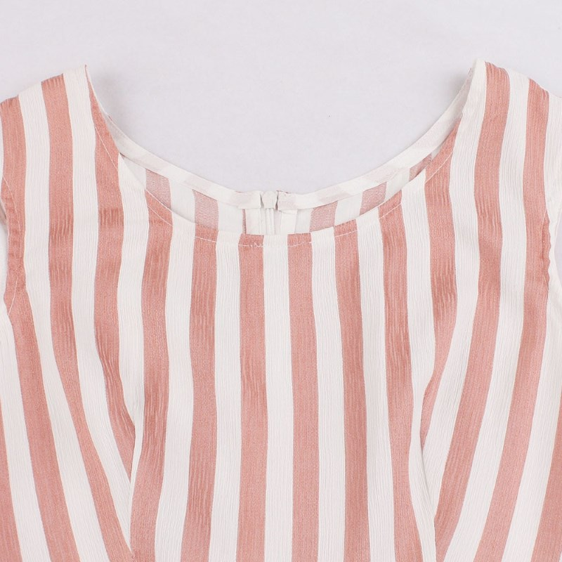 Cute as pie striped 50s style dress