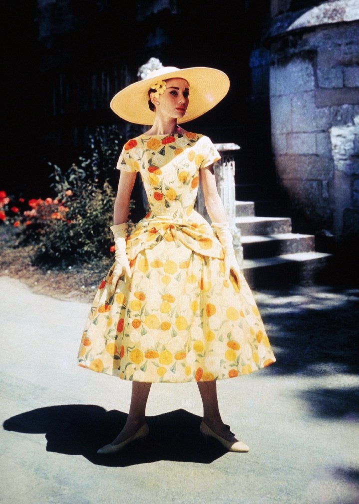 Audrey Hepburn while filming Funny Face
