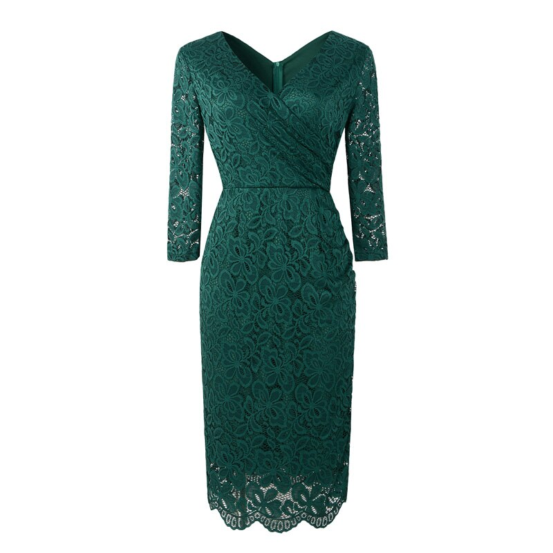 Anna Green Lace Retro Style Pencil Dress