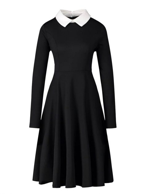 Peta Pan Black Retro Dress