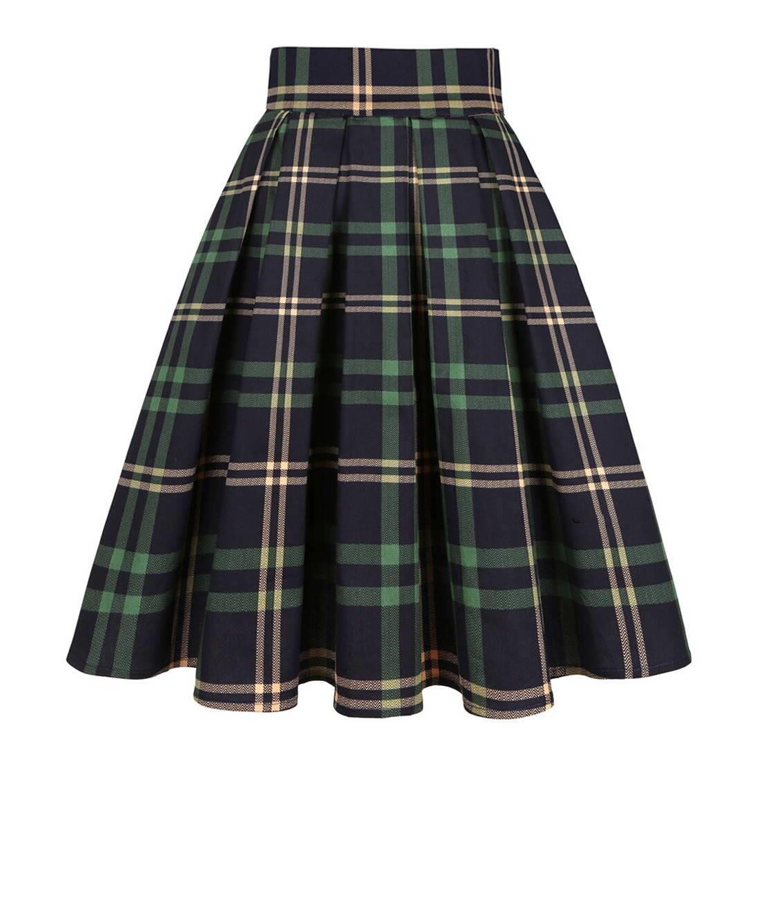 Blue and Green Tartan Skirt