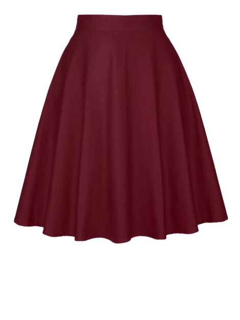 Burgundy Retro Style Skirt