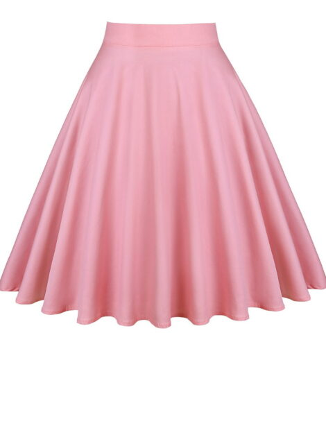 Dusty Pink Retro Style Skirt