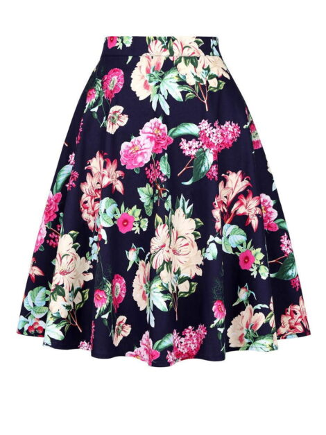 Maggie Floral Vintage Style Skirt