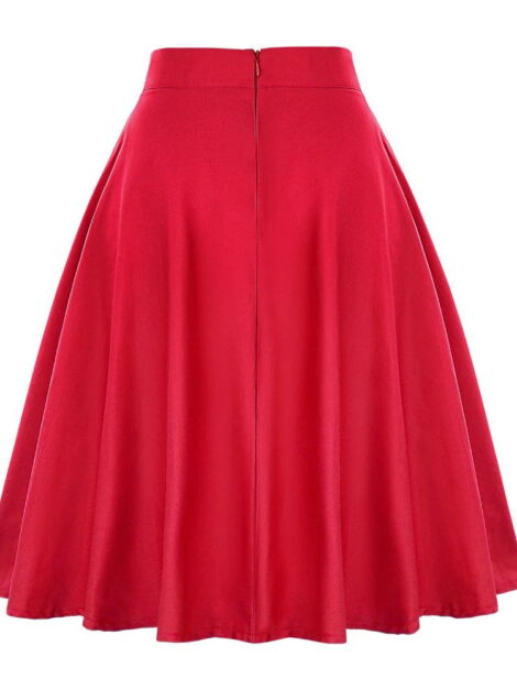 Red Retro Style Skirt 1