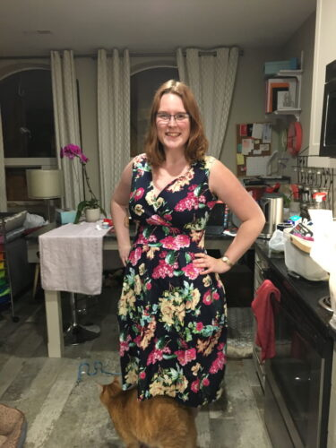 Maggie Crossover Floral Swing Dress photo review