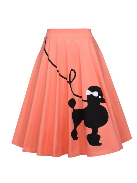 Pink 50s Style Poodle Skirt